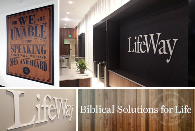 Branded Environment for LifeWay Christian Resources in Nashville by 12-Point SignWorks.