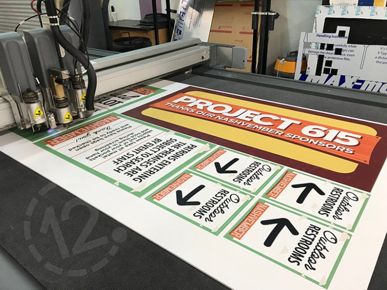 Nashvember 2018 signs cut out of foam board by 12-Point SignWorks in Franklin, TN.