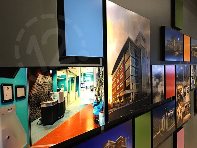 Architectural display for NewGround Chicago by 12-Point SignWorks in Franklin, TN.