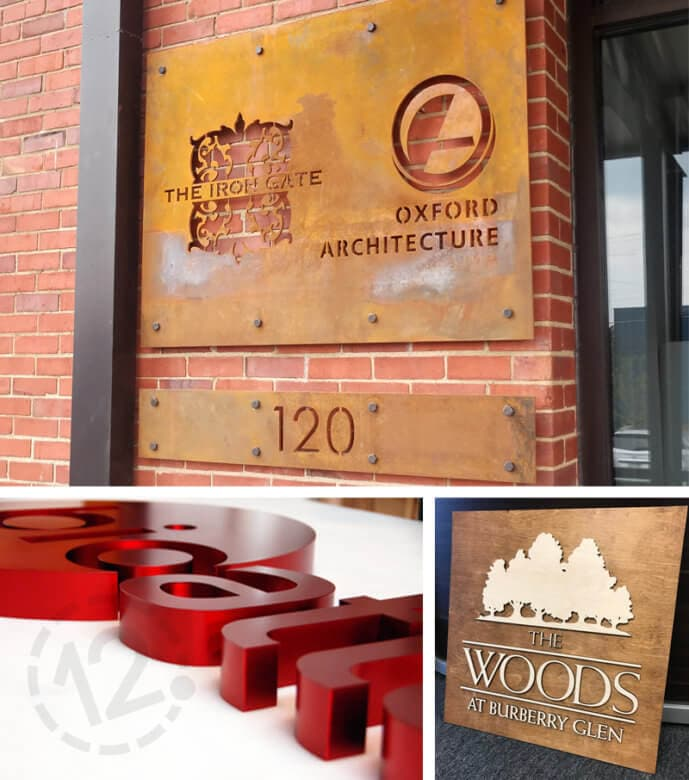 Custom signs by 12-Point SignWorks in Franklin, TN.