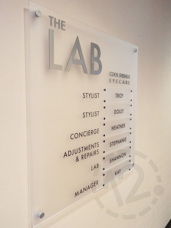 Staff Directory Sign by 12-Point SignWorks in Franklin, TN.