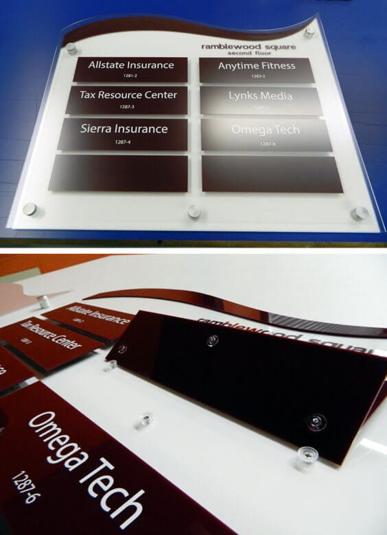 Interchangeable Directory Sign for Summit Contracting Corporation by 12-Point SignWorks.