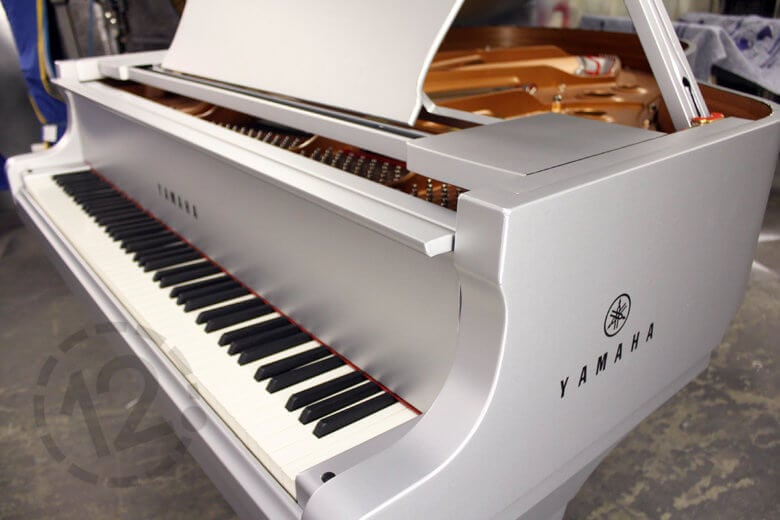 Vinyl piano wrap for Yamaha by 12-Point SignWorks in Franklin, TN.
