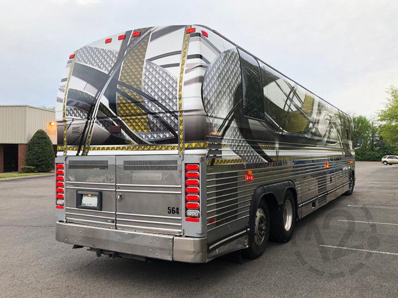 Custom bus wrap for Glen Templeton by 12-Point SignWorks in Franklin, TN.