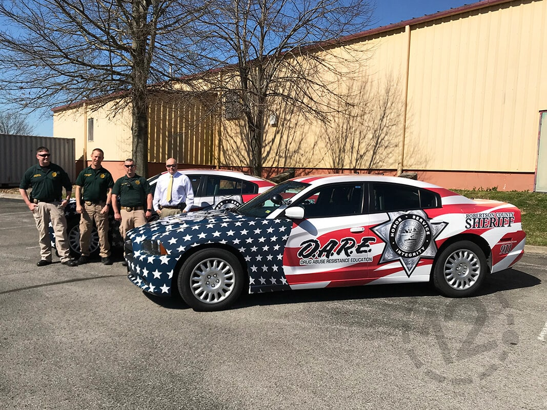 Robertson County Sheriff S Office Expands Fleet With Patriotic Car Wraps 12 Point Signworks