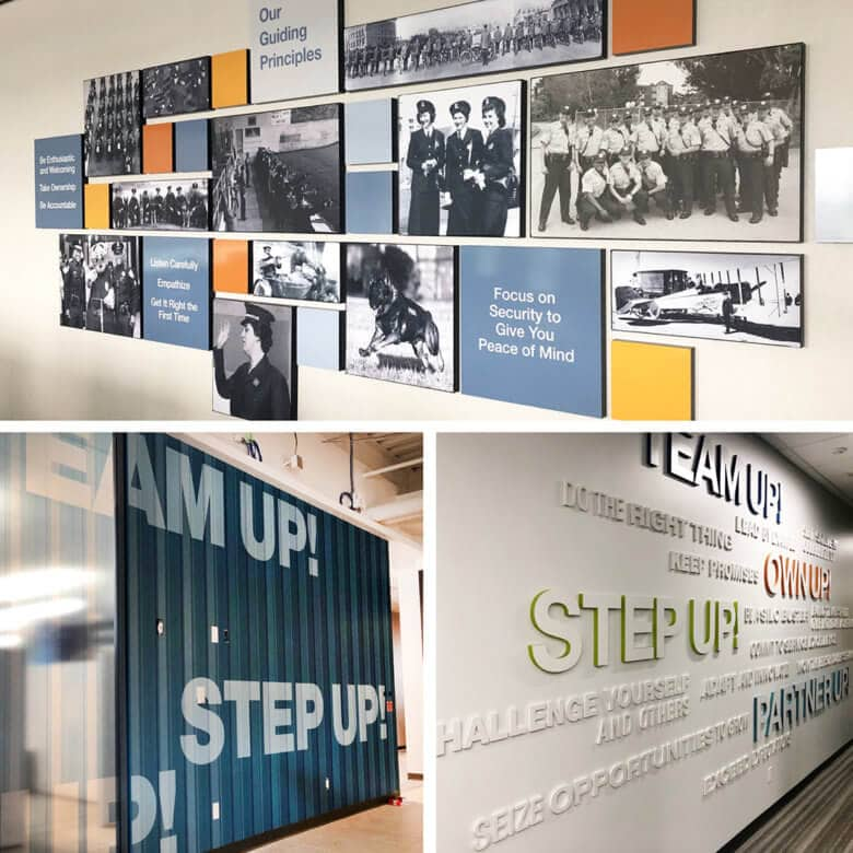 Facility Branding for the San Francisco Police Federal Credit Union by 12-Point SignWorks.
