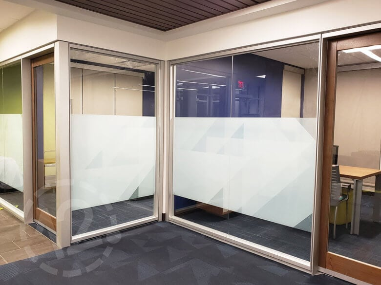 Privacy window vinyl for Chartway Federal Credit Union by 12-Point SignWorks.