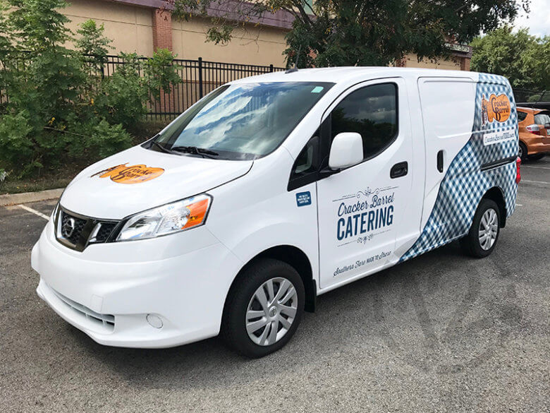 Custom fleet wrap for Cracker Barrel Old Country Store by 12-Point SignWorks in Franklin, TN.