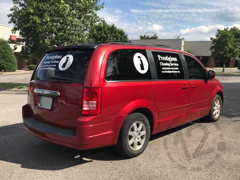 Vehicle graphics for Prestigious Cleaners