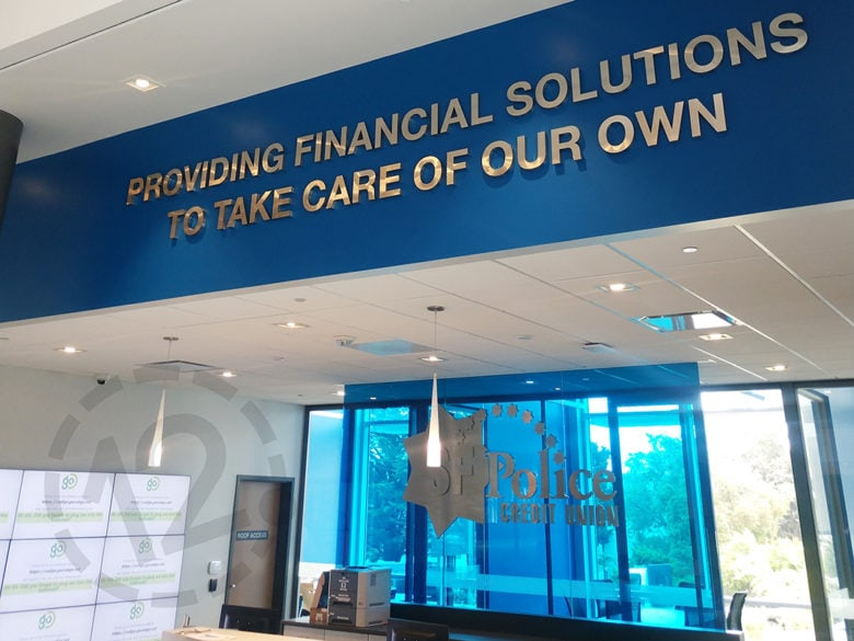Dimensional letters for SFPCU in San Bruno, CA by 12-Point SignWorks.