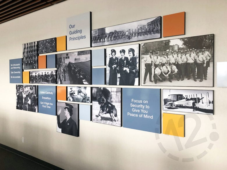 SEG display for SFPCU in San Bruno, CA fabricated and installed by 12-Point SignWorks.