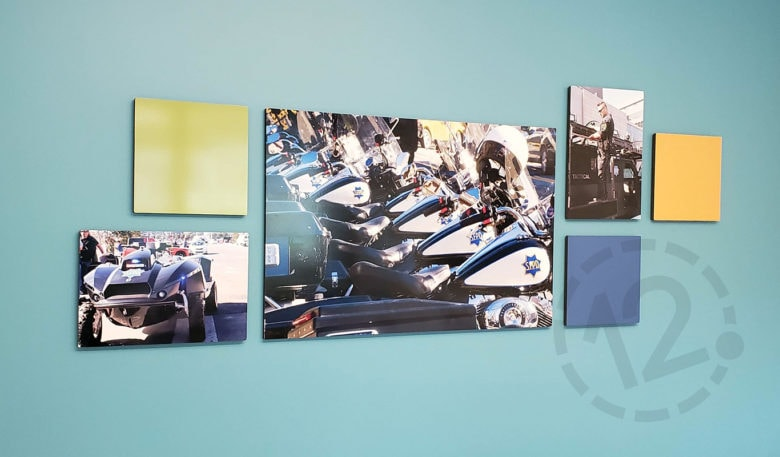 Photo Display for SF Police Credit Union fabricated and installed by 12-Point SignWorks.