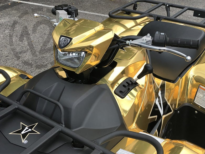 Custom Atv Wrap Shines Bright For Vanderbilt University
