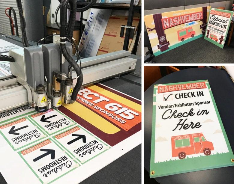 Custom signage for Nashvember printed by 12-Point SignWorks in Franklin, TN.