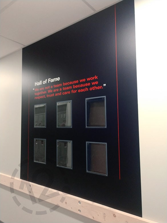 Wall vinyl for Live! by Loews in Arlington, TX printed and installed by 12-Point SignWorks.