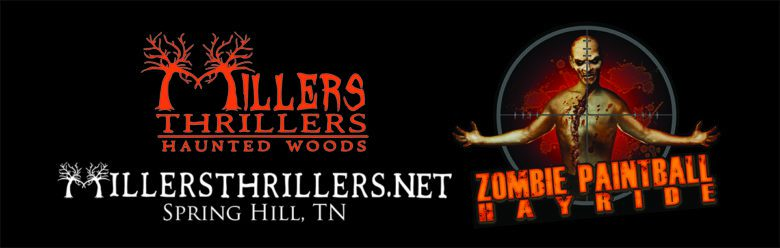Millers Thrillers Zombie Paintball Hayride Logo
