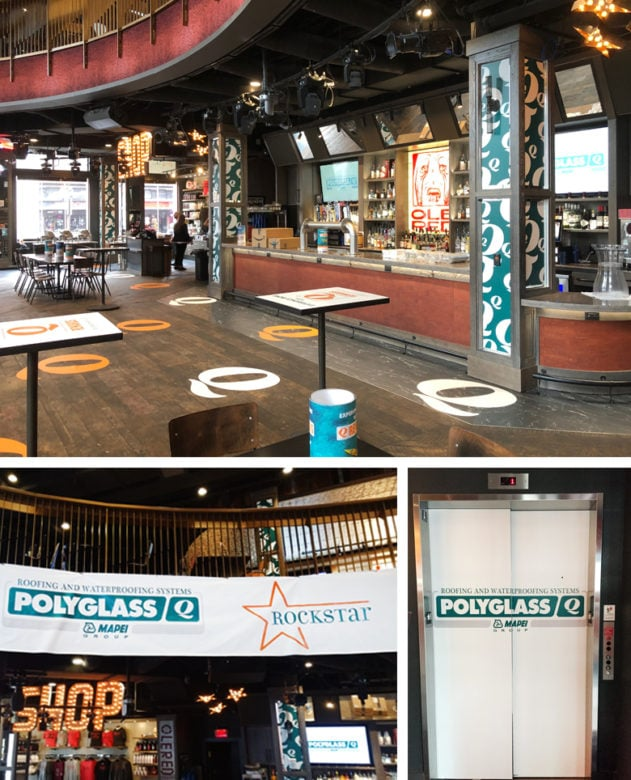 Temporary event signage installed for Maple Ridge Events at Ole Red in Nashville, TN by 12-Point SignWorks.