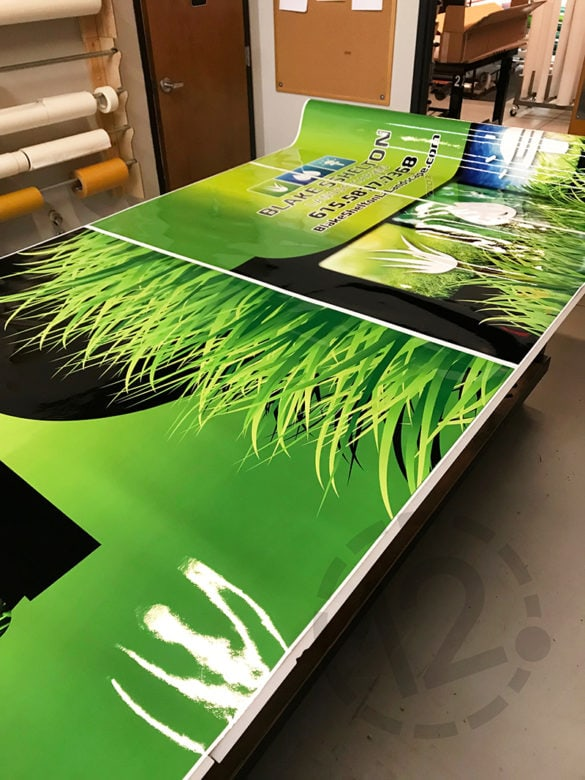 Printed vinyl for a vehicle wrap by 12-Point SignWorks in Franklin, TN.