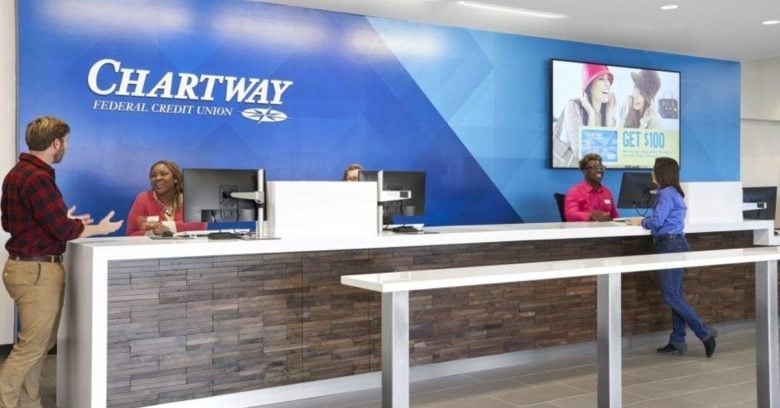 Custom wall mural for Chartway Federal Credit Union printed and installed by 12-Point SignWorks.