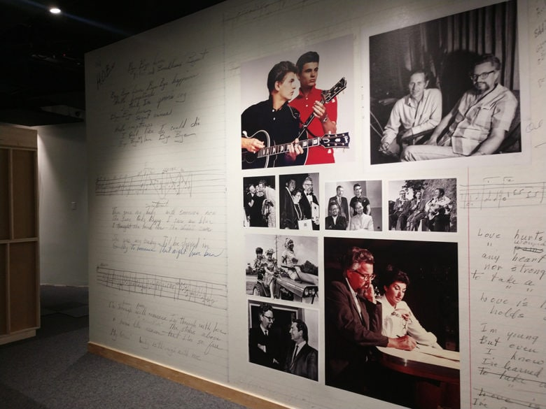 Wall mural for the Country Music Hall of Fame in Nashville, TN printed and installed by 12-Point SignWorks.
