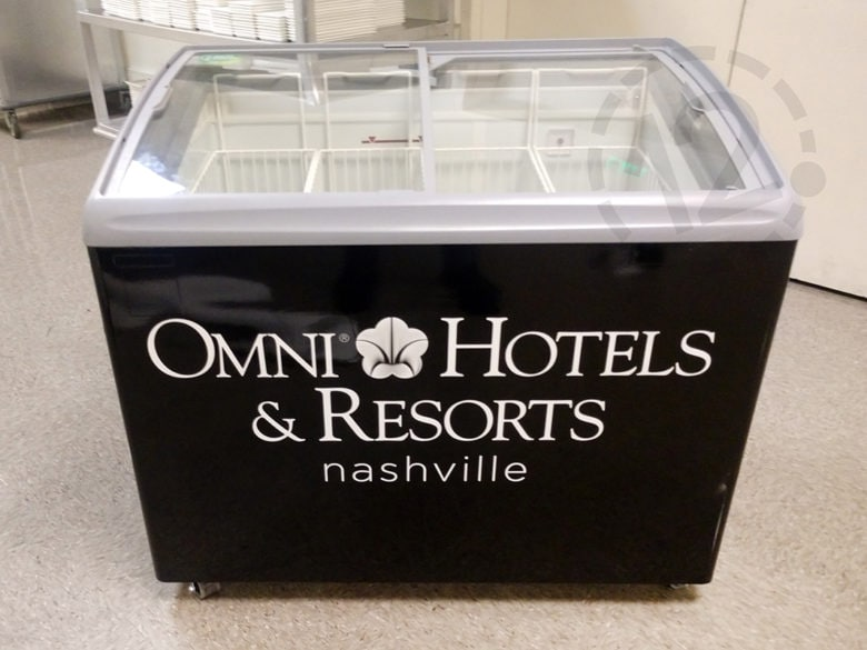 Custom freezer wrap for Omni Hotels & Resports in Nashville by 12-Point SignWorks.