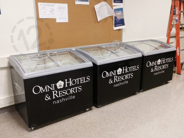 Custom freezer wraps for Omni Hotels and Resorts in Nashville by 12-Point SignWorks.