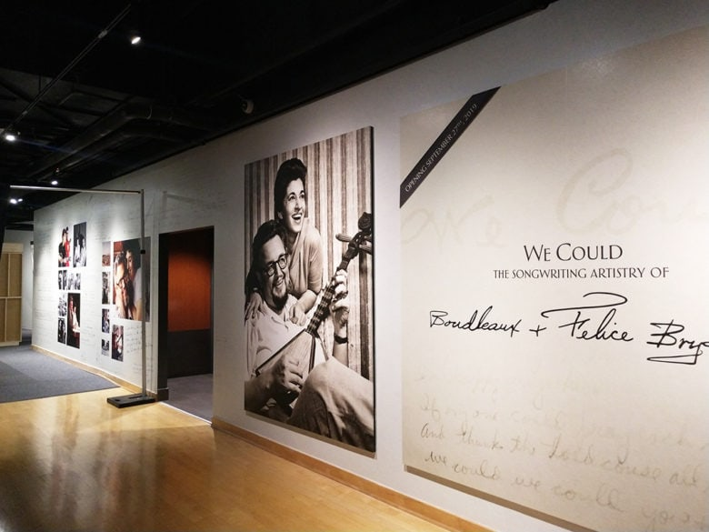 Custom wall murals in the Country Music Hall of Fame in Nashville printed and installed by 12-Point SignWorks.