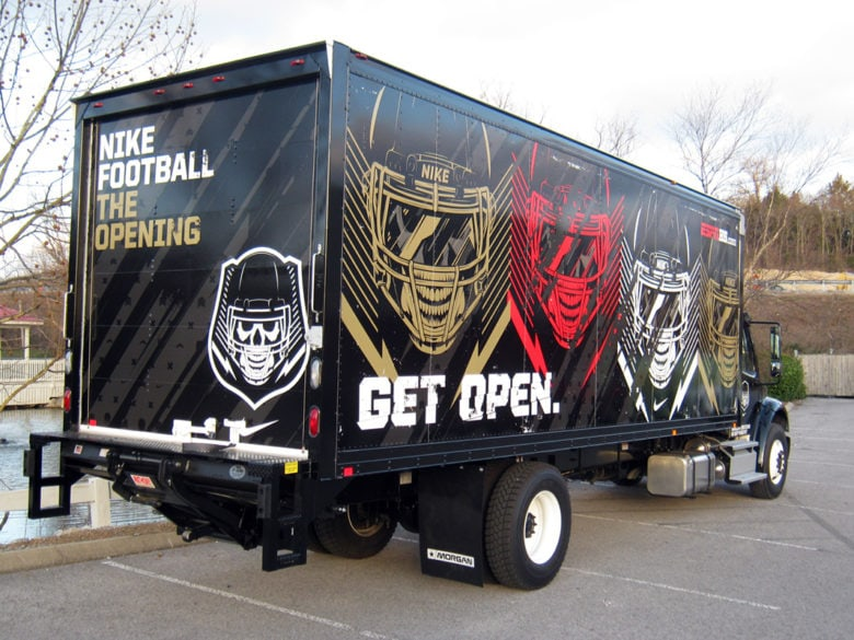 Box truck wrap for Barclay Creations installed by 12-Point SignWorks in Franklin, TN.