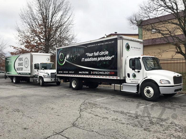 Custom box truck wraps by 12-Point SignWorks in Franklin, TN.