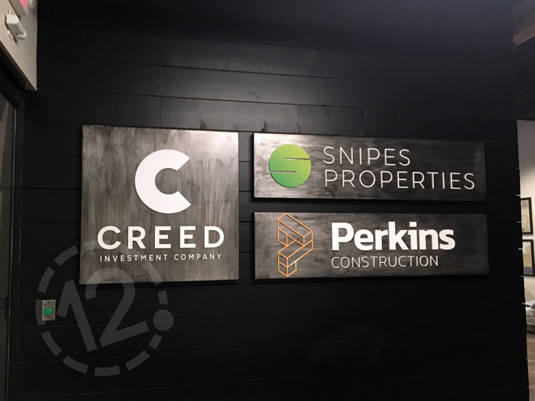 Custom logo signs by 12-Point SignWorks in Franklin, TN.