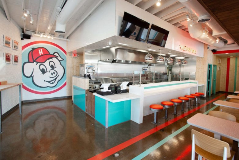 Custom wall mural for Hugh Baby's in Nashville printed and installed by 12-Point SignWorks.