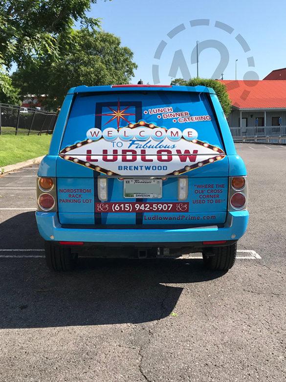 Mobile Advertising Wrap for Ludlow & Prime Nashville