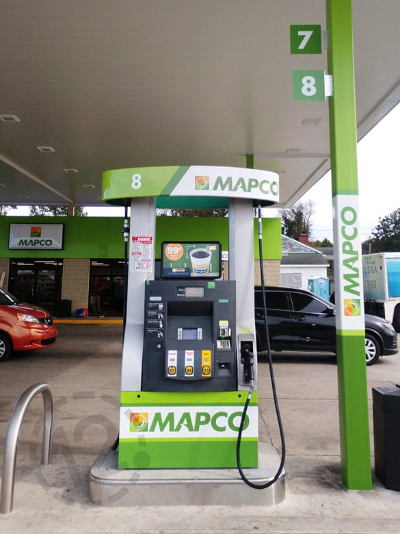 Custom branding graphics for Mapco printed and installed by 12-Point SignWorks.