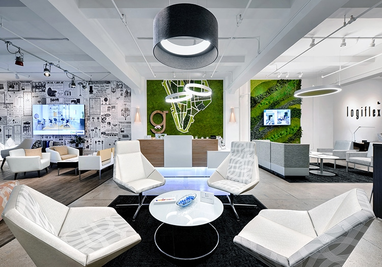 Great Example of Branded Workplace Design
