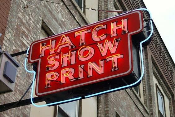 Hatch Show Print Iconic Sign