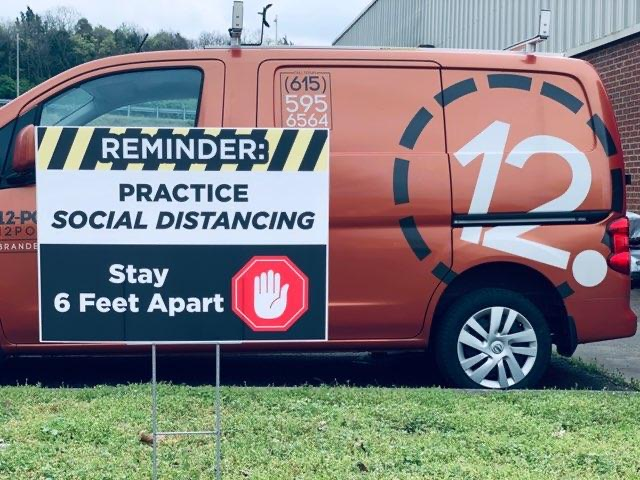 Social Distancing Yard by 12-Point SignWorks