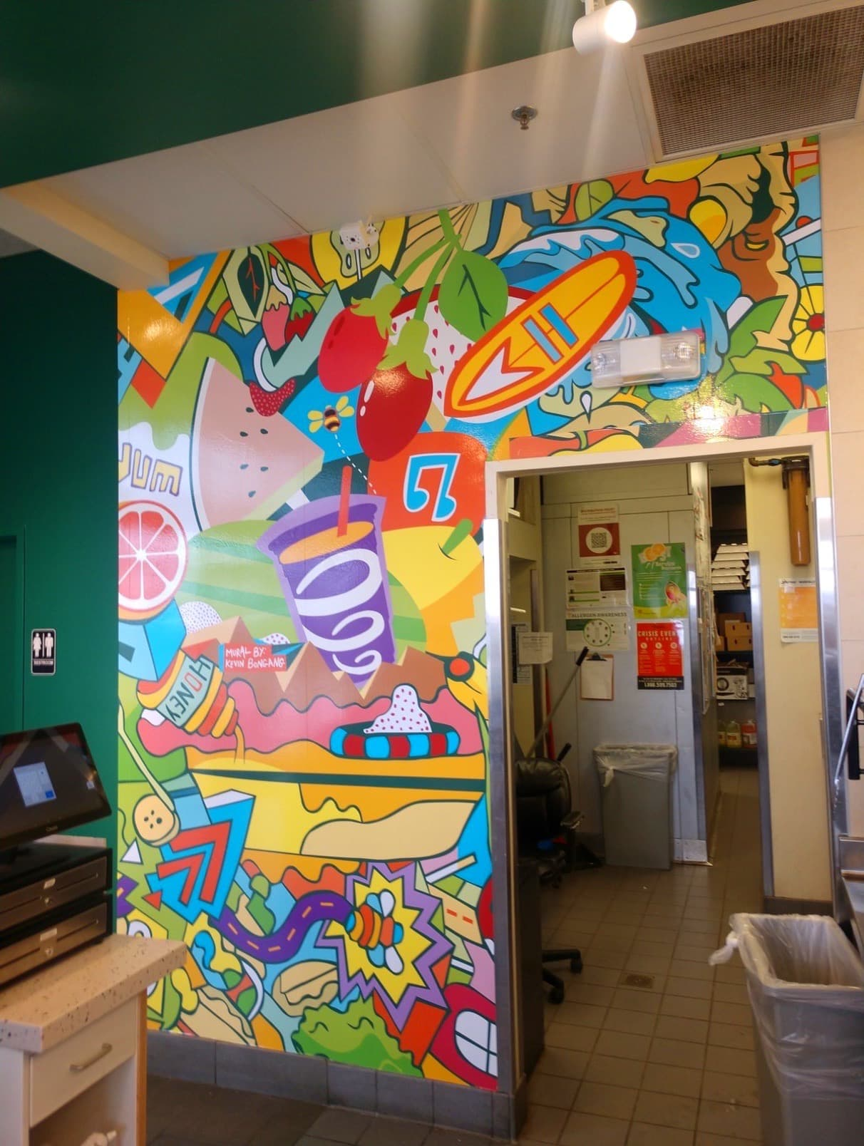 Custom Mural installed by 12-Point SignWorks