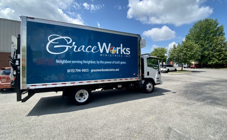 Box truck wrap for GraceWorks Ministries
