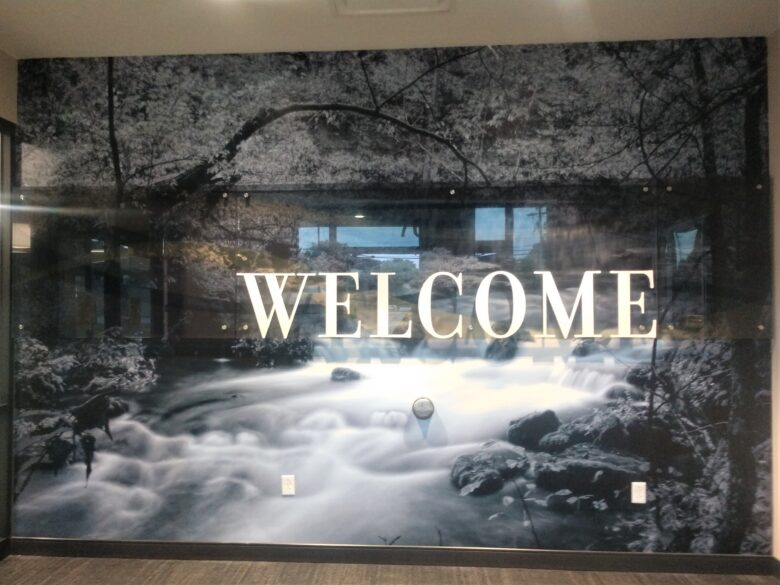 Lobby Wall Graphic for West Plains Bank & Trust Company 's Willow Springs Location