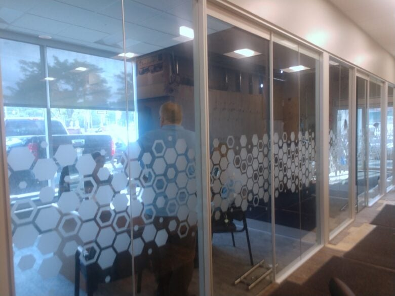 Etched Glass Vinyl for Rosedale Federal by 12-Point SignWorks
