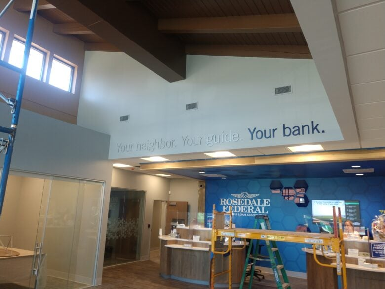 Experiential Graphics for Rosedale Federal by 21-Point SignWorks