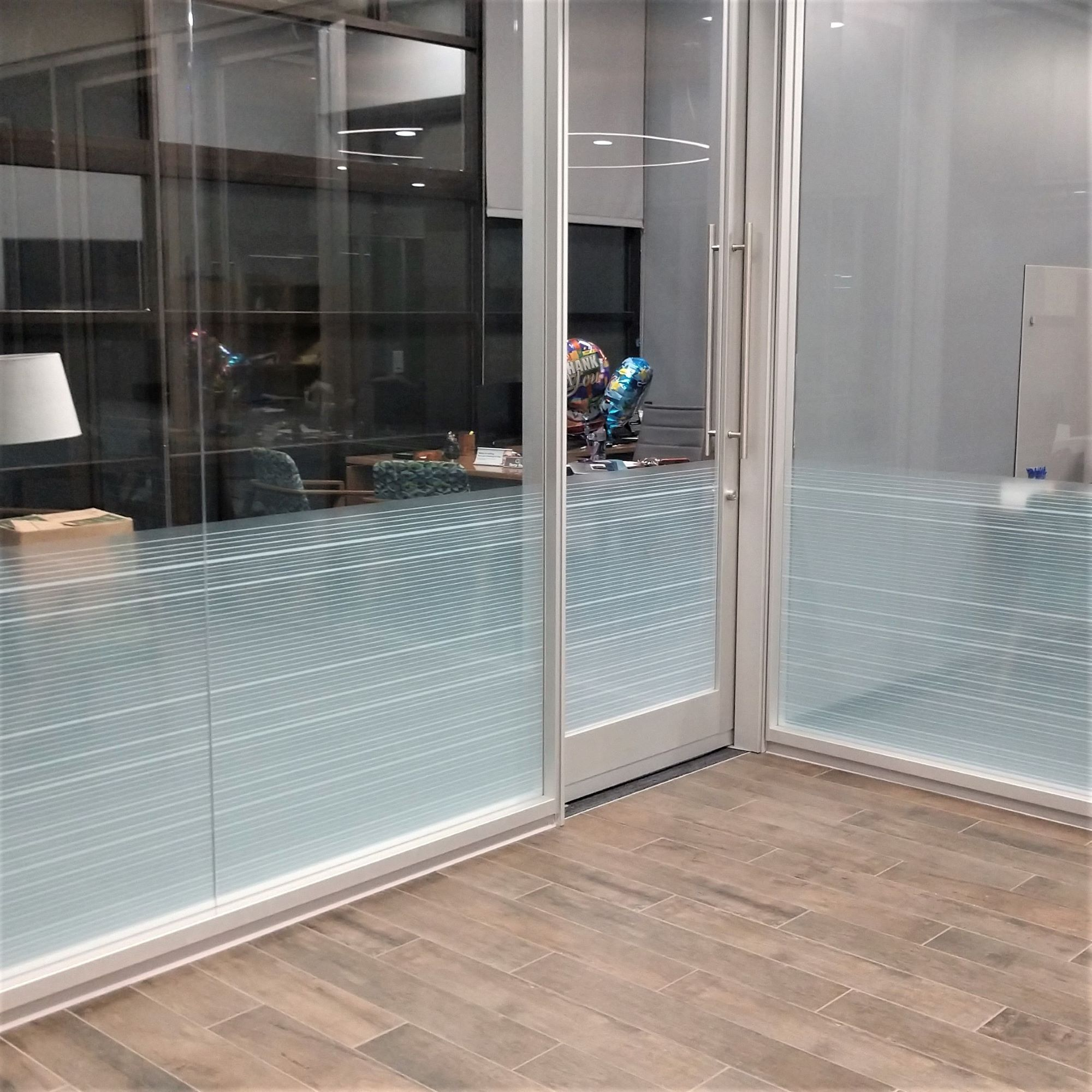 Reliant Bank privacy glass vinyl
