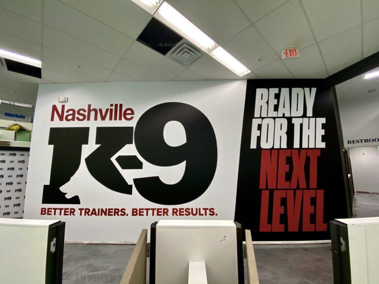 Corporate Wall Murals for Nashville K-9 (12-Point SignWorks)