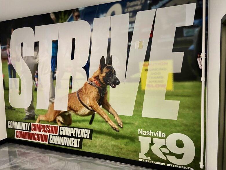Corporate Wall Mural for Nashville K-9 (12-Point SignWorks)