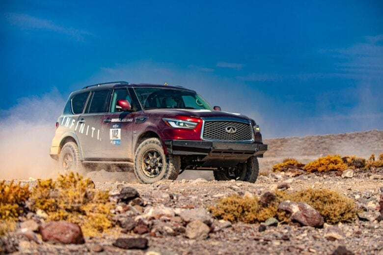 Final QX80 Wrap Design at the 2020 Rebelle Rally for INFINITI Global by 12-Point SignWorks
