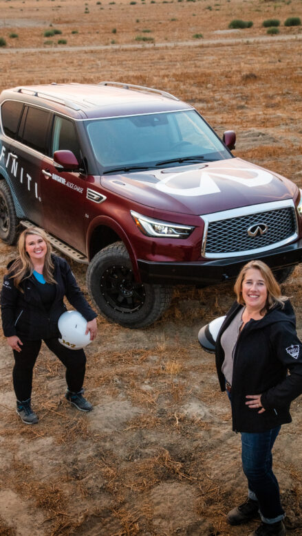 The Contestants behind the QX80 Qxploration in the 2020 Rebel Rally.