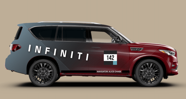 The First Sketch of the QX80 Vehicle Wrap for INFINITI Global by12-Point SignWorks