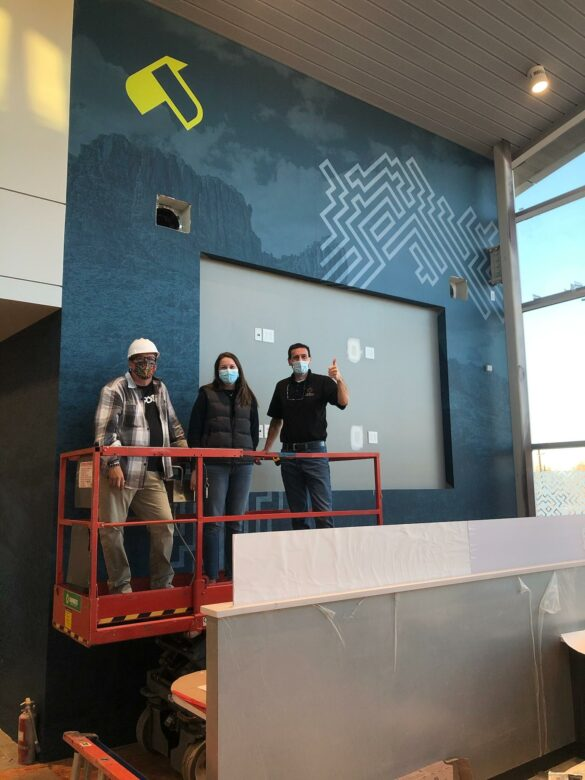 12-Point and NewGround Installing Experiential Graphics for U.S. Eagle Federal Credit Union