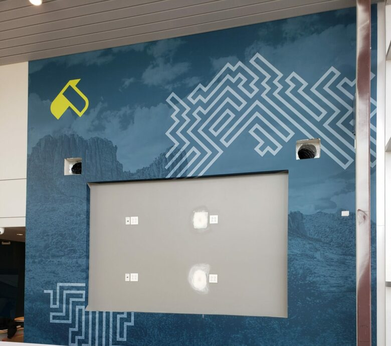 Experiential Branding/ Wall Mural for U.S. Eagle Federal Credit Union