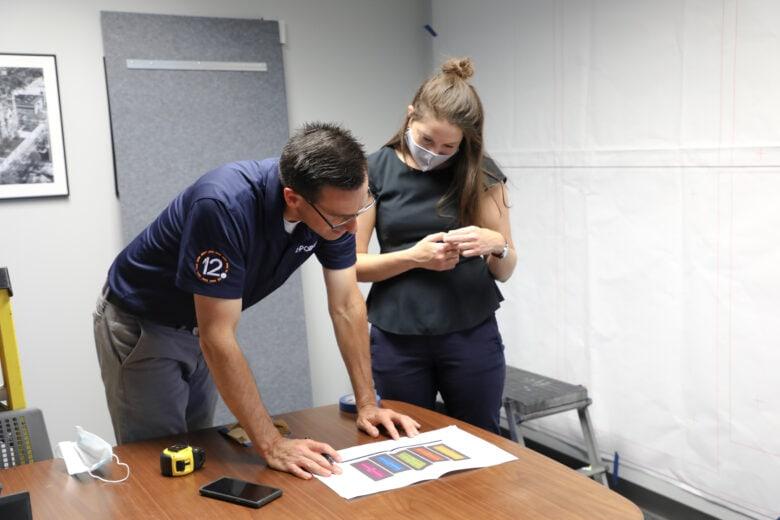 12-Point Owner Murray working with NewGround's design team